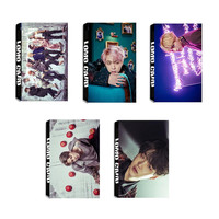 Youpop KPOP BTS Bangtan Boys WINGS JUNGKOOK V Album LOMO Cards K-POP New Fashion Self Made Paper Photo Card HD Photocard LK428