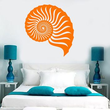 Vinyl Wall Decal Seashell Marine Sea Beach Style Room Stickers Unique Gift (ig3824)