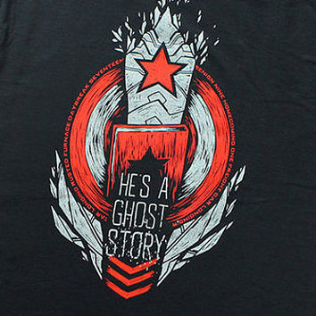Winter Soldier // Bucky Barnes T-Shirt //  He's A Ghost Story // Hand screen printed // Available in plus sizes