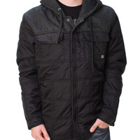 Metal Mulisha Men's Timber Button Up Hooded Jacket