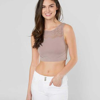 BKE SHREDDED HIGH NECK BRALETTE