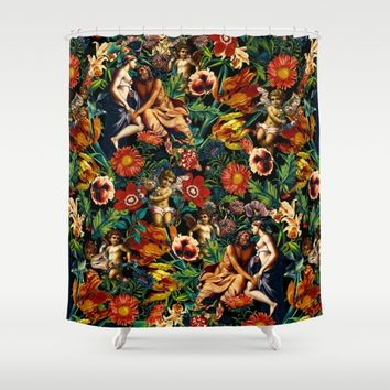 HERA and ZEUS Garden Shower Curtain by Burcu Korkmazyurek