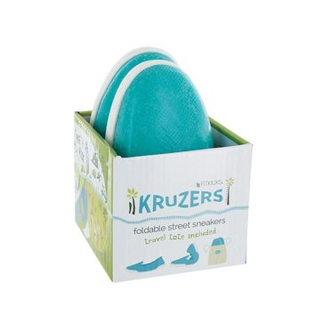 Kruzers Foldable Street Sneakers, Turquoise