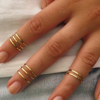 8 Above the Knuckle Rings - Gold Ring from HLcollection