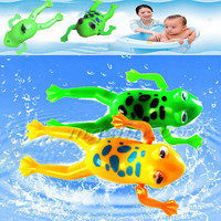 Wind-up Frog Swimming Pool Bath Time Animal Clockwork Floating Kid Baby Toy