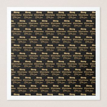 Merry Christmas with Love Gold Black Typography Paper Dinner Napkin