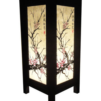 New Asian Oriental CHERRY BLOSSOM TREE Bedside Table Lamp Wood or Bedside Paper Light Shades Furniture Home Decor