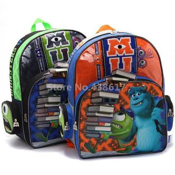 New Fashion Monsters University Sulley Mike Boys School Bag Kids Cartoon Backpack Bags For Children Schoolbag