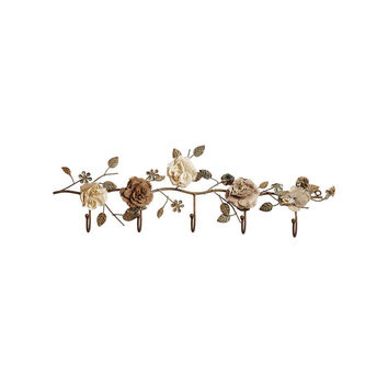 Winding Flowers Metal Wall Hooks