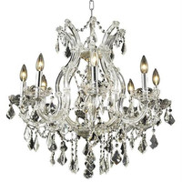 Karla - Hanging Fixture (9 Light Traditional Hanging Crystal Chandelier) - 2380D26