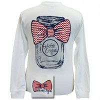 Girlie Girl Mason Jar - White (long sleeve) Girlie Girl Mason Jar - White (long sleeve) : Girlie Girl™ Originals - Great T-Shirts for Girlie Girls!