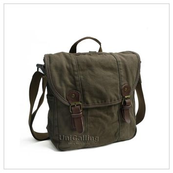 Brand Canvas Messenger Bags,100% cotton high quality guarantee vintage canvas tote messenger bag military casual cross body bag