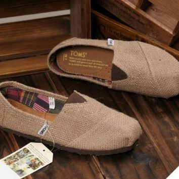 TOMS UNISEX FLAT SHOES FASHION LEISURE LOAFERS-3