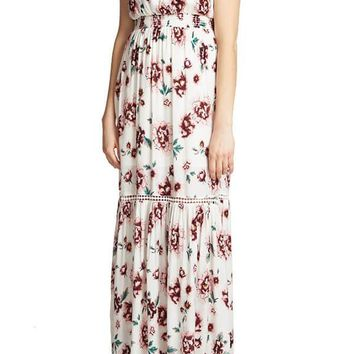 Jack By BB Dakota Floral Printed Meadows Rayon Maxi Dress