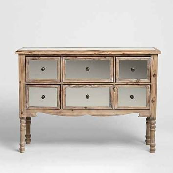 6-Drawer Mirrored Dresser