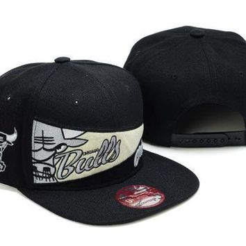Chicago Bulls Nba 9fifty Cap Windy City Patch Black
