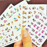 Mickey Mouse Clubhouse Nail Decals, Pluto, Minnie Mouse, Daisy 5 sheets Nail art