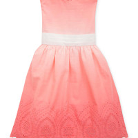 Rare Editions Little Girls' Ombre Eyelet Dress