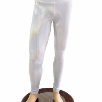 Mens Leggings in Flashbulb Holographic