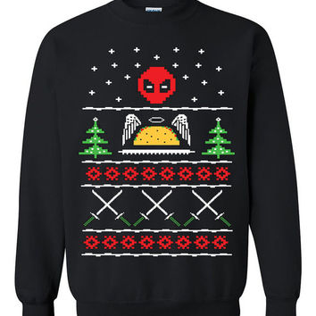 Deadpool holiday Ugly Christmas Sweater sweatshirt Unisex Adults
