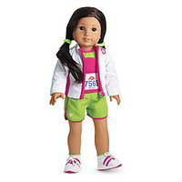 American Girl® Clothing: 2-in-1 Track Outfit for Dolls + Charm