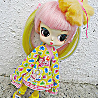 LOVELY Dal, Byul KAWAII yellow Kimono dress