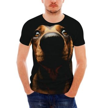 All Over Print Dachshund Dog T-Shirts - Men's Top Tee