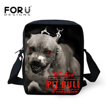 Pit Bull Dog Women&Men Messenger Bags for Boys&Girls Casual Cross body Bags,New Brand Designer Ladies Crossbody Bags Travel Bags
