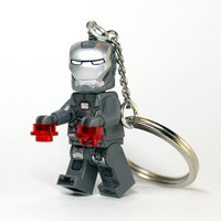 War Machine Keychain - made from NEW Superhero LEGO (r) Minifig