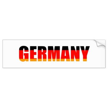 Germany Autoaufkleber Bumper Sticker