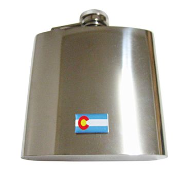Colorado State Flag Pendant 6oz Flask