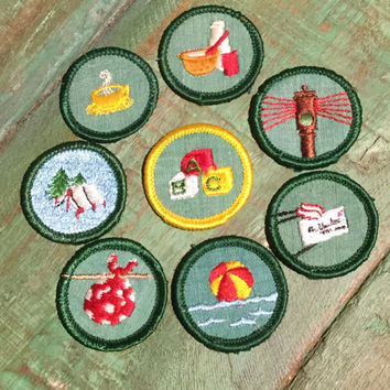 Your Choice of Vintage 1970's Junior Girl Scout Badges/Patches