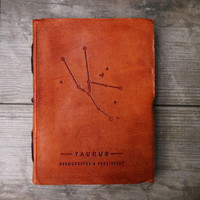 Handmade Leather Journal // Taurus