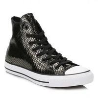 Converse Black Metallic Leather Trainers