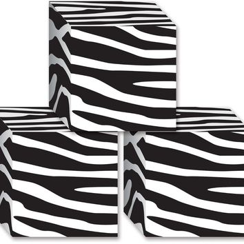 zebra print favor boxes Case of 24