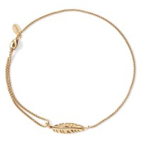Alex and Ani Precious Metals Symbolic Feather Pull Chain Bracelet | Bloomingdales's