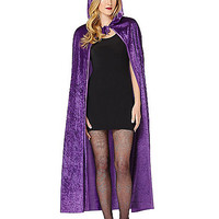 Purple Crush Velvet Cape Womens Costume - Spirithalloween.com
