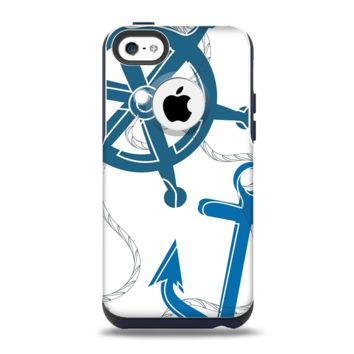 The Nautical Anchor Collage Apple iPhone 5c Otterbox Commuter Case Skin Set
