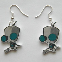New Gir from the Invaders Zim  Novelty Earrings