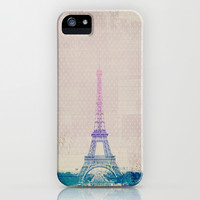 I Love Paris iPhone & iPod Case by M Studio