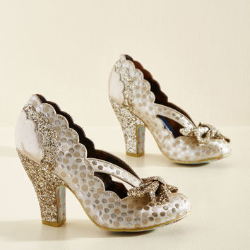 Irregular Choice Patterns at Display Metallic Heel | Mod Retro Vintage Heels | ModCloth.com