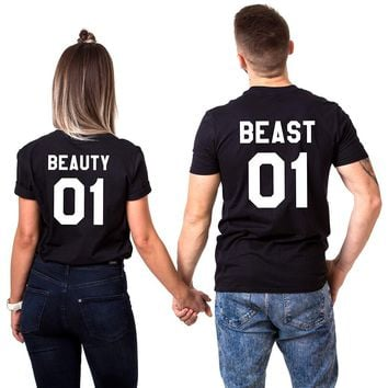 Beauty and Beast  Couple Tee Shirt