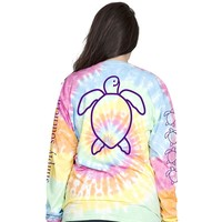 "Youth Simply Southern ""TIE DYE LOGO"" Long Sleeve Tee"