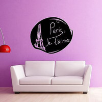 Wall Stickers Vinyl Decal Paris France Excellent Room Home Decor (ig932)