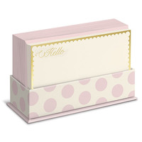 Blush Dots Flat Note Card Set