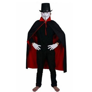 Red Black Children Anime Death Cloak Hat Mask Costume Cosplay Carnival Stage Performance Props Clothing Set