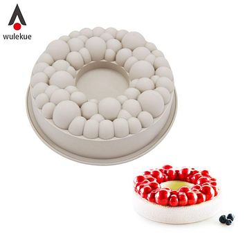 Wulekue Silicone Cherry BUBBLE CROWN Cake Mold Chocolate Mousse Baking Decorating Tools