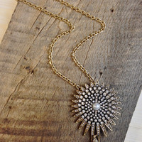 Embellished Starburst Necklace/Pin
