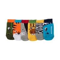 Crib Animal Socks 6 Pack