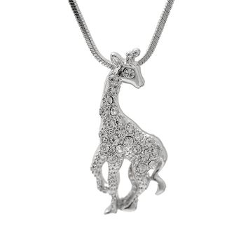 Crystal Moody Giraffe Necklace